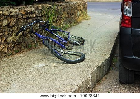 Bicycle after accident
