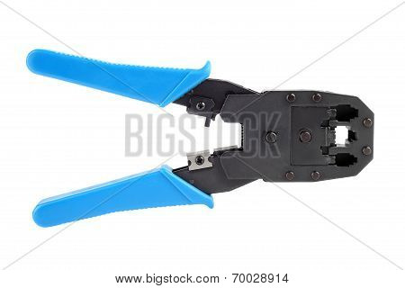 Crimping tool isolated on white background.