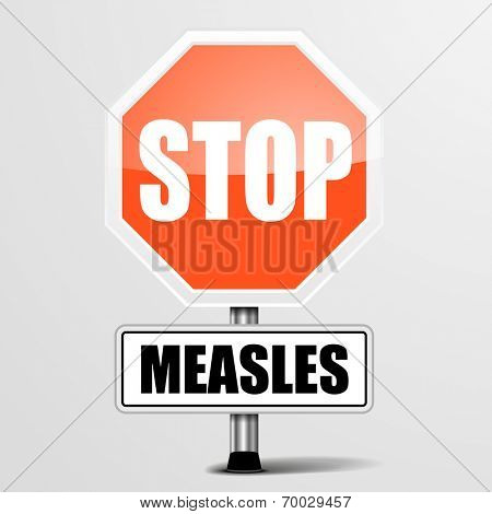 detailed illustration of a red stop measles sign, eps10 vector