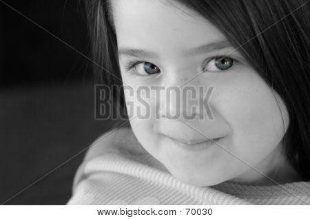 Children-B&W With Blue Eyes