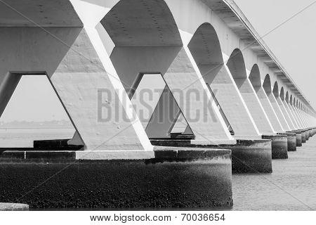 5 Km Long Zeelandbrug, Zeeland, Netherlands