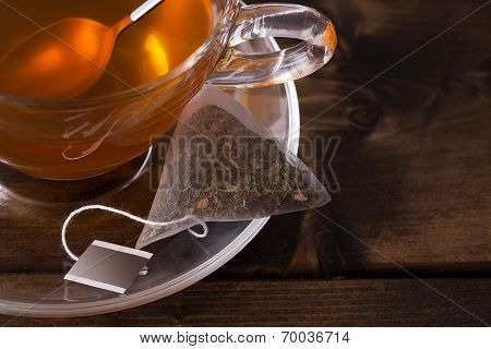 Fresh Glass Cup Of Tea
