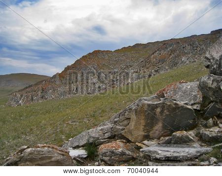 The Nature Of Lake Baikal. Outcrop Of Rocks