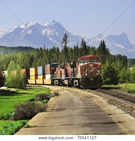 Long freight train.