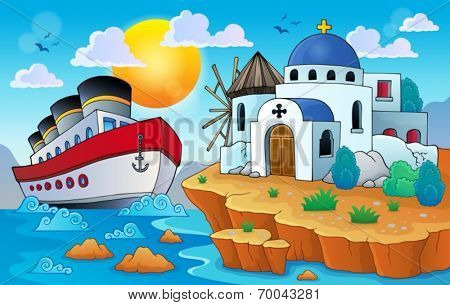 Greek theme image 8 - eps10 vector illustration.