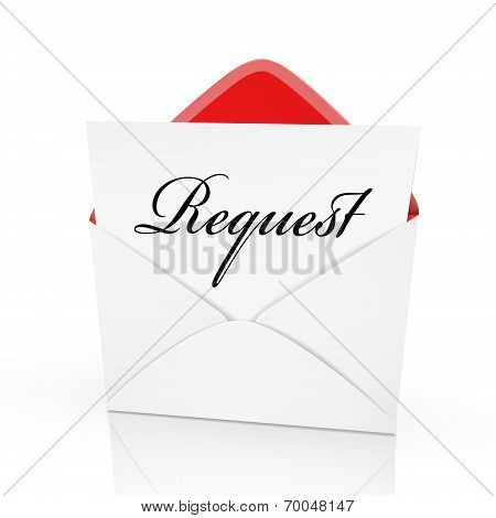 The Word Request On A Card
