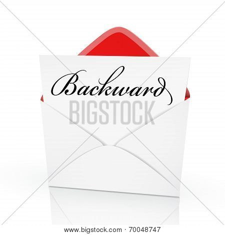 The Word Backward On A Card