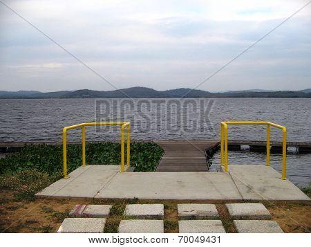 dock on the caroni river