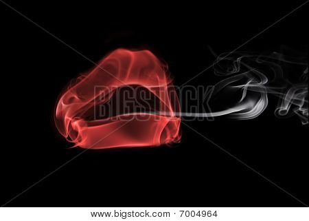 Smoke In The Form Of Female Lips