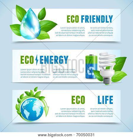 Ecology horizontal banners