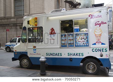 Ice cream truck in midtown Manhattan