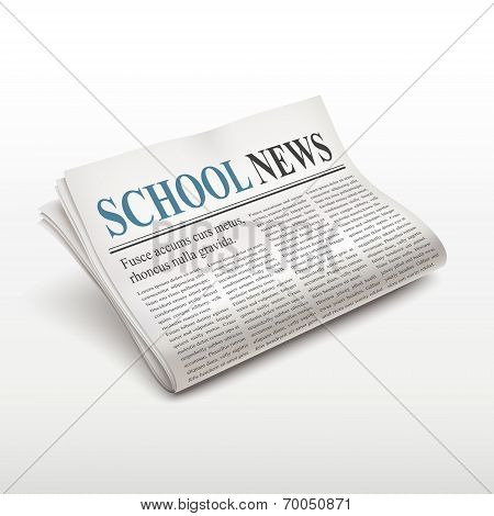 School News Words On Newspaper