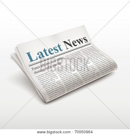 Latest News Words On Newspaper