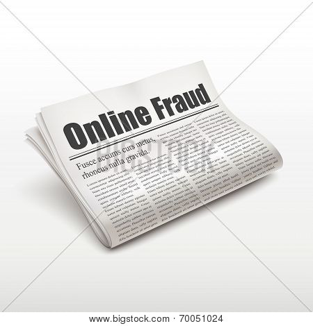 Online Fraud Words On Newspaper