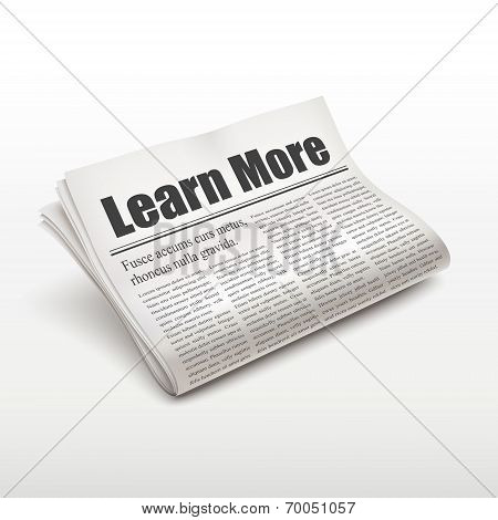 Learn More Words On Newspaper