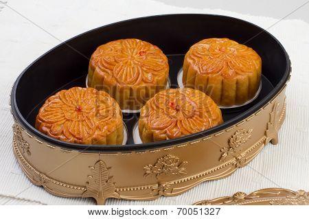 Moon cakes in beautiful box