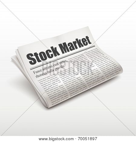 Stock Market Words On Newspaper