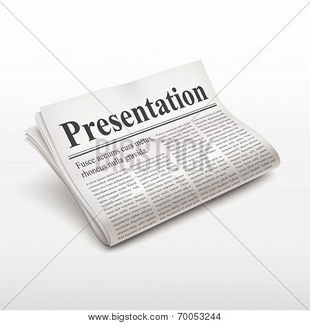 Presentation Words On Newspaper