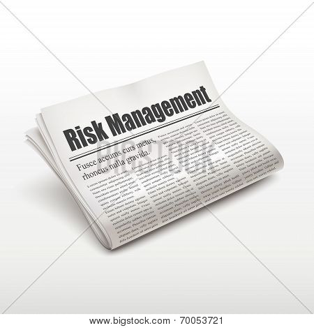 Risk Management Words On Newspaper