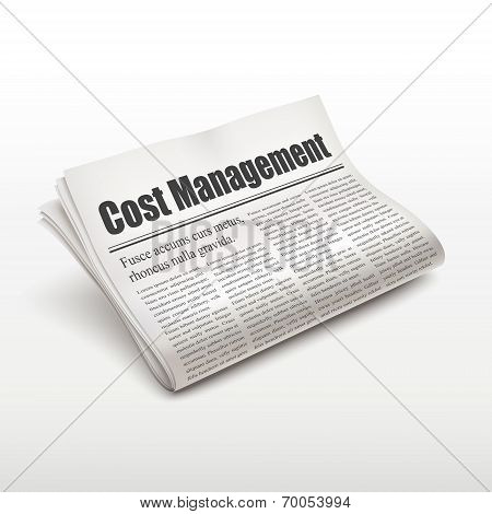 Cost Management Words On Newspaper