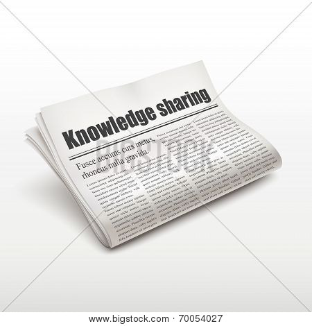 Knowledge Sharing Words On Newspaper
