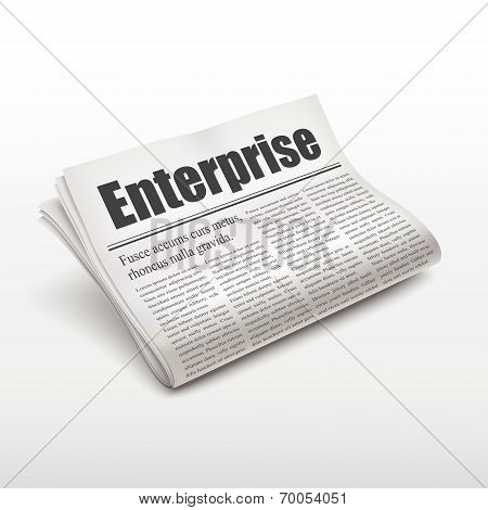 Enterprise Word On Newspaper