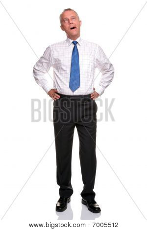 Mature Businessman Yawning