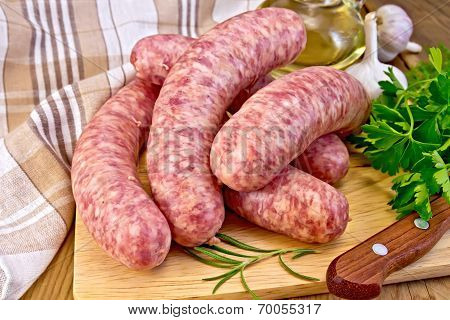 Sausages Pork On Board