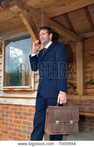 Businessman On His Mobile Phone