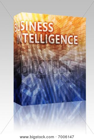 Business Intelligence Illustration Box Package