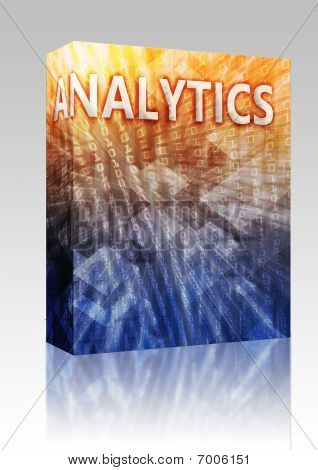 Analytics Illustration Box Package