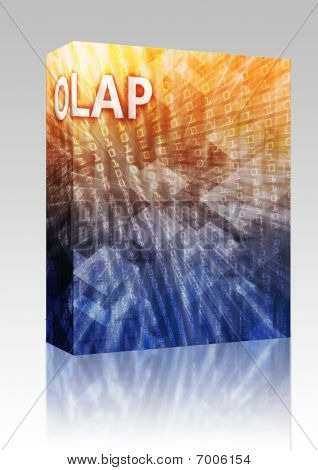 Olap Business Intelligence Illustration Box Package