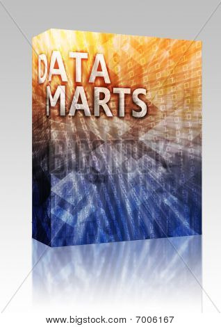 Data Mart Illustration Box Package