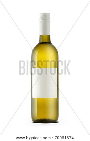 White Wine Bottle With Blank Etiquette