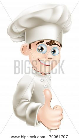 Chef Cartoon Giving Thumbs Up Sign