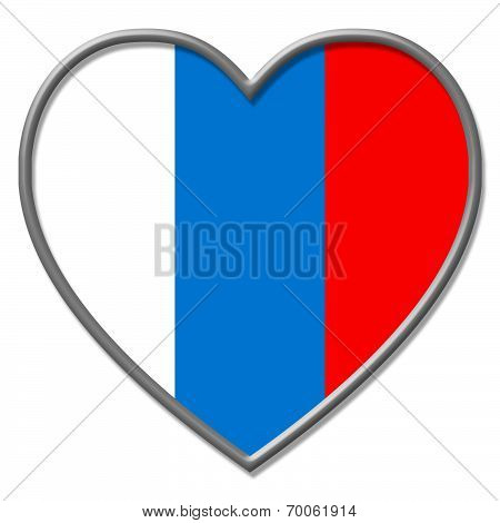 Heart Russia Represents Valentines Day And Countries