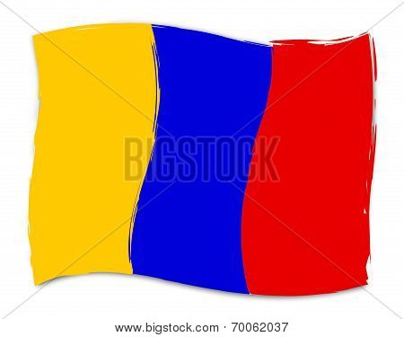 Columbian Flag Means South America And Countries