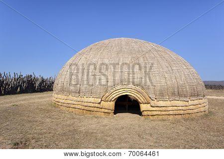 Zulu beehive hut.