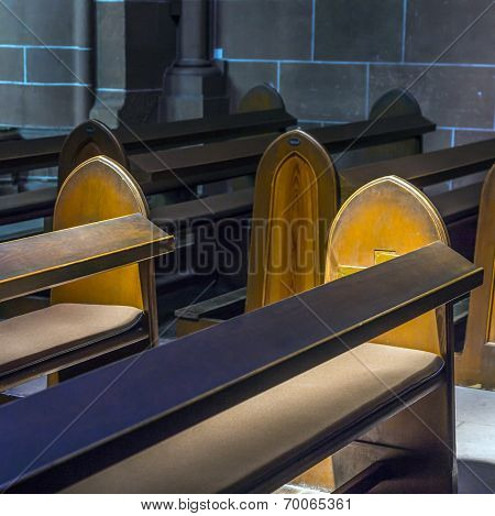 WETZLAR, GERMANY - APR 7, 2015: detail of bench in the dome of Wetzlar