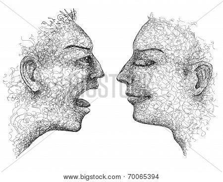 Emotional Man Face