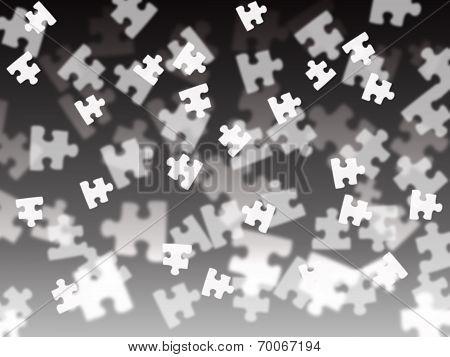 Puzzle Piece On A Black Gradient Background