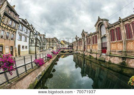 Canal In Little Venice In Colmar, France