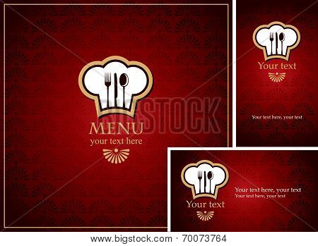 Menus with red background