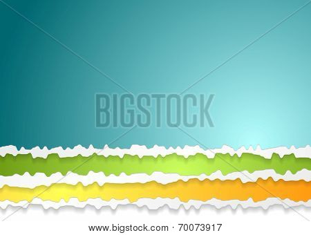 Ragged edge paper abstract background. Vector design template