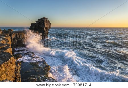 Pulpit Rock In Stormy Seas