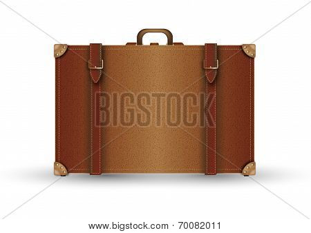 Leather Suitcase Vontage