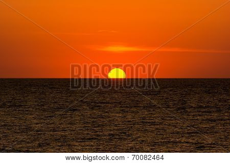 Orange Sky Sunrise And Sea