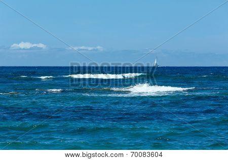 Sea Summer View From Beach (greece,  Lefkada, Ionian Sea).