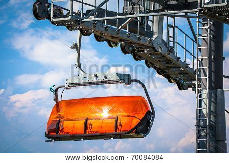 Orange Ropeway In Low Tatras, Slovakia