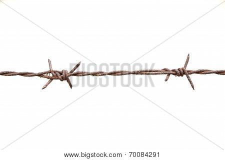 Real Barbed Wire With Some Rust